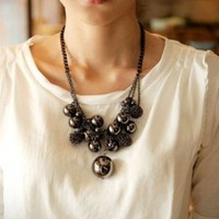Mysterious Popular Short Beads Attractive Necklace  : Wholesaleclothing4u.com