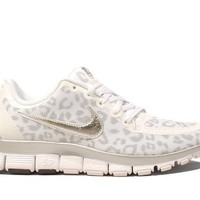 Nike Wmns Free 5.0 V4 Leopard - White Wolf Grey (511281-100)