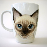 Custom  Pet Portrait  Mug -Personalized, Hand painted -Made to order- Personalized Gift