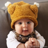 Melondipity's Little Turkey Baby Hat for Boys or Girls - Crochet Knit Beanie in Brown with Cute Drumsticks - Extremely Popular - Available in Sizes: Newborn, Infant and Toddler