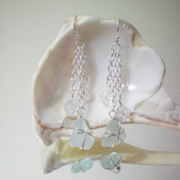 sea foam sea glass and crystal wire wrapped by KimberlyAnnMarie