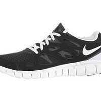 Amazon.com: Nike Free Run+ 2 Women's Running Shoes Black White-Anthracite: Shoes