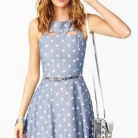 Starry Chambray Dress