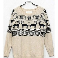OASAP - Lovely Nordic Print Long Jumper - Street Fashion Store