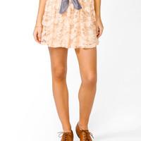 Shirred Lace Skirt
