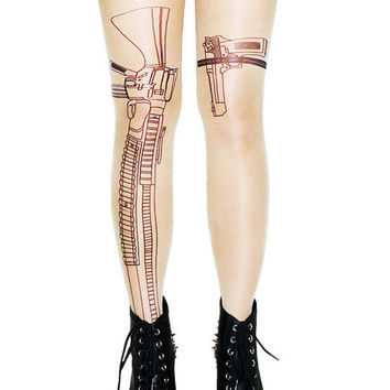 Machine Gun Tights by Nikkie Nikole