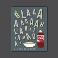"Burp ""Did you hear that"", Buddy the Elf, Coke, Spaghetti, Syrup, Christmas, Kid Art, 8 x 10"" Print, Wall Art"