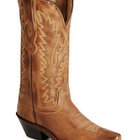 Cowgirl Boots - Old West distressed leather snip toe boots - Sheplers
