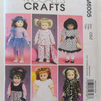 New McCalls Pattern doll clothes for 18 inch dolls American Girl dress skirt coat top pillow blanket headband pajamas