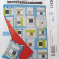 New McCalls Quilt pattern D S Quilt Collection modern style squares quilt pillow sham pattern