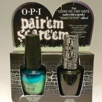 opi halloween 2011 pair&#x27;em scare&#x27;em **black shatter AND zoom-body to love(glows in the dark)**