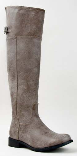 Breckelle's RIDER-82 Fashion Basic Thigh Knee High Classic Buckle Riding Boot ZOOSHOO