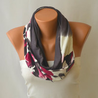 infinity scarf - cotton jersey infinity scarf loop scarf circle scarf winter scarf christmas gifts birthday gifts