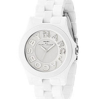 Marc by Marc Jacobs Watch, Women's Riviera White Plastic Bracelet MBM4523 - All Watches - Jewelry & Watches - Macy's