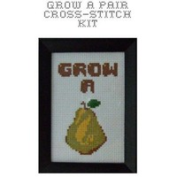 DIY Grow A Pear cross stitch KIT by bombastitch on Etsy