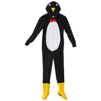 Women&#x27;s Penguin Footie - Black
