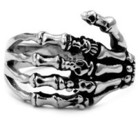 Punk Rock Skeleton Hand Ring