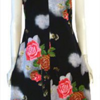 Black 70s Dress by Nelda's Vintage Clothing