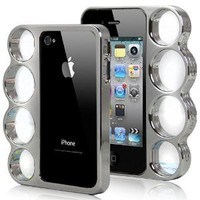 Knuckle Bumper Case for iPhone 4S / 4 - Silver