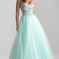 Strapless Sweetheart A-Line Ball Gown by Night Moves