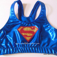 Super Steel Super Hero Metallic Sports Bra Cheerleading