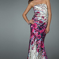 Strapless Gown by La Femme 14648 - In Stock!