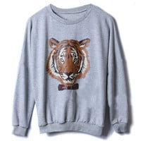 Tiger Print Grey Top [NCTL0045] - $32.99 :