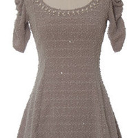 Trendy and Cute dresses - Gracia - Boucle Sparkle Pearl Dress - chloelovescharlie.com | $98.00