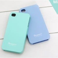 Happymori Slim Fit Silicon Case for Apple Iphone 4-Mint