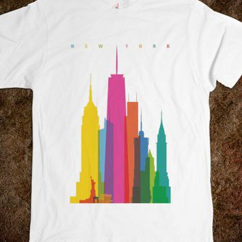 Colorful New York Skyline Tee - shine on