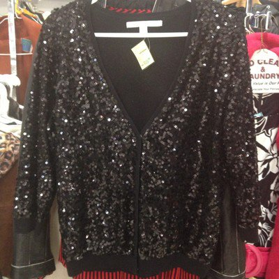 Lauren Conrad Sequined Cardigan Large NWOT