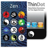 "ThinDot Home Button Stickers for iPhone, iPad and iPod Touch ""Zen Series"""