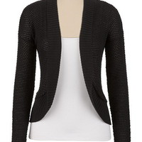 Lurex Open Stitched Cardigan