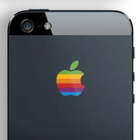 iPhone 5 Retro Logo Decal