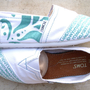 The Tiffany - Teal and White Custom TOMS