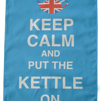 Keep Calm and put the Kettle on printed quirky tea towel