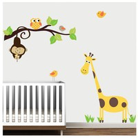 Branch JungleNursery Giraffe Decal Sticker Vinyl by Modernwalls