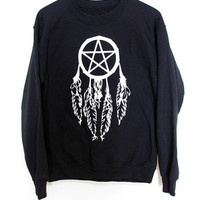 Crew Sweater // Pentagram Dreamcatcher BMA LARGE