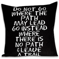 'Leave a Trail' Inspiration Rectangular Pillow  | Overstock.com