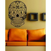 Amazon.com: Sugarskull Version 6 Wall Vinyl Decal Sticker Art Graphic Sticker Sugar Skull: Everything Else