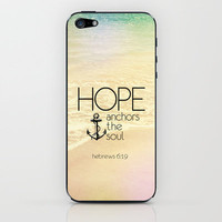 Hebrews 6:19 iPhone & iPod Skin by Pocket Fuel | Society6
