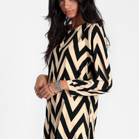 Back Together Chevron Dress - $44.00 : ThreadSence, Women's Indie & Bohemian Clothing, Dresses, & Accessories
