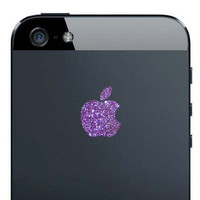 iPhone 5 Sparkling Amethyst Apple Decal