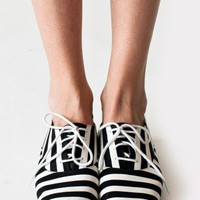 Bobby Stripe Lace-Up Shoe | Women's Shoes - Sandals, Pumps & More | American Apparel
