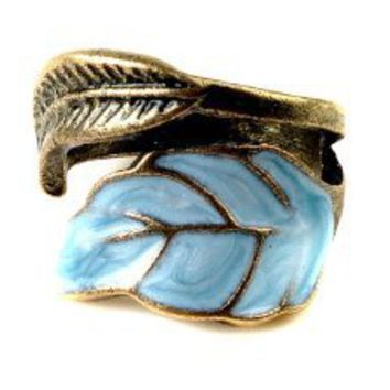 Amazon.com: Vintage Style Women's Elegant Enamel Unique Leaves Ring: Jewelry