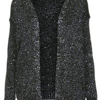 Black And Silver Sequin Cardi - View All  - New In