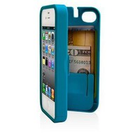 Amazon.com: EYN, Turquoise Case for iPhone 4/4S with built-in storage space for credit cards/ID/money: Cell Phones &amp; Accessories