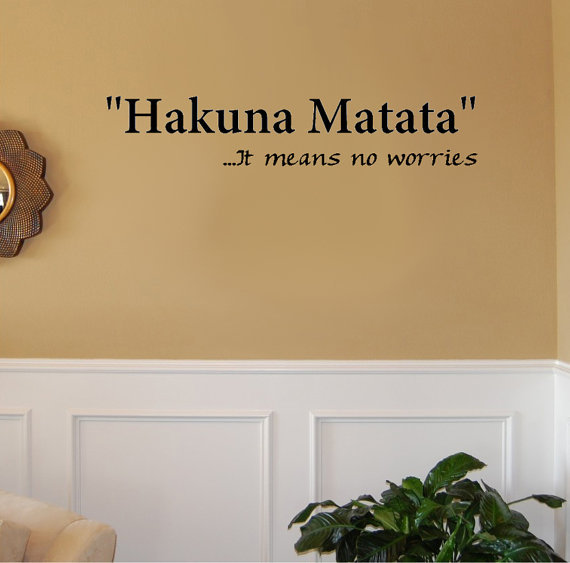 Hakuna Matata.. It means no worries Vinyl from Imprinted ...