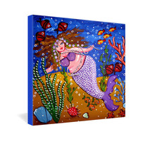 DENY Designs Home Accessories | Renie Britenbucher Purple Mermaid Gallery Wrapped Canvas