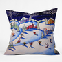 DENY Designs Home Accessories | Renie Britenbucher Winter Skiing Fun Throw Pillow